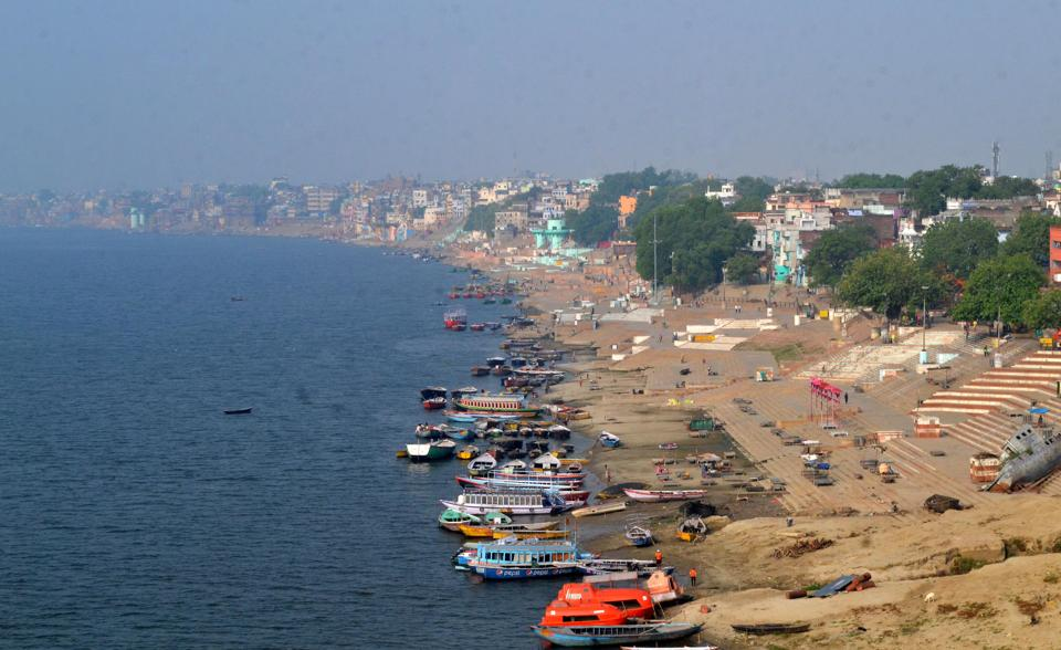 The pollution has decreased because there was around 40 percent decrease in the number of bodies cremated at Manikarnika Ghat and Harishchandra Ghat.