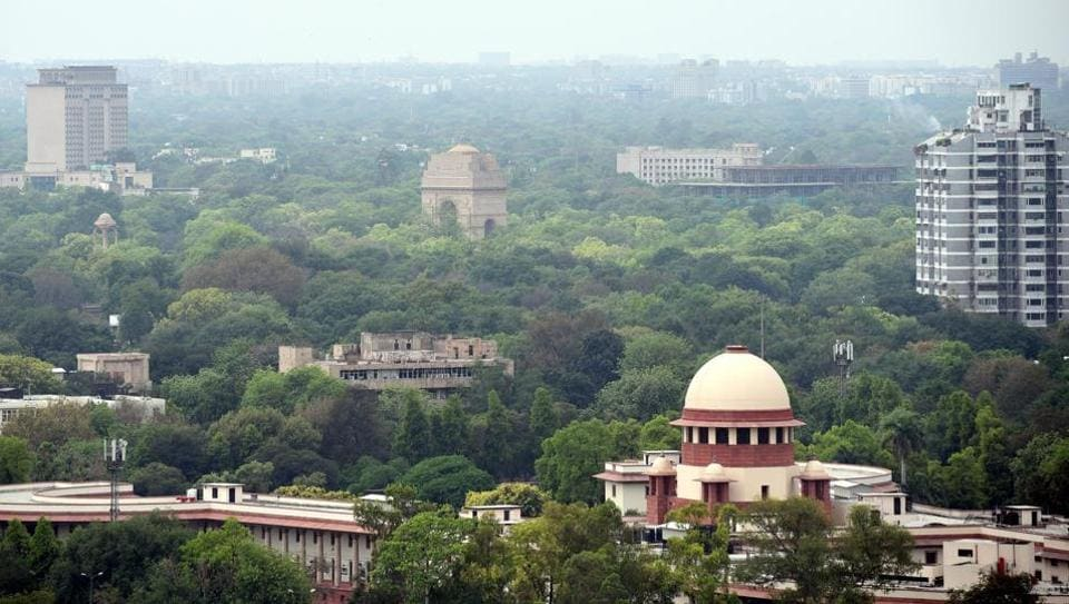 A view Supreme Court during lockdown – to curb the spread of coronavirus, in New Delhi, India, on Thursday, April 23, 2020.
