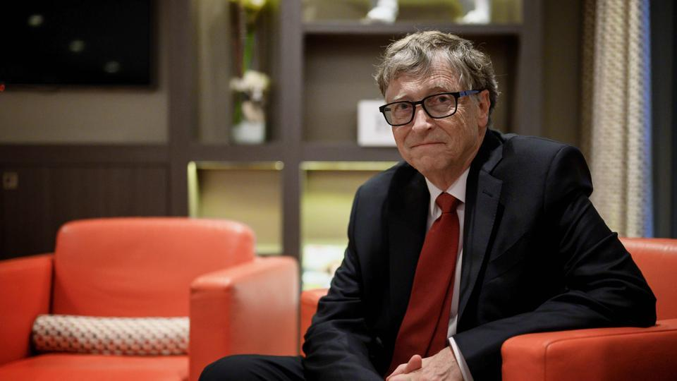 (FILES) In this file photo US Microsoft founder, Co-Chairman of the Bill & Melinda Gates Foundation, Bill Gates, poses for a picture on October 9, 2019, in Lyon, central eastern France, during the funding conference of Global Fund to Fight AIDS, Tuberculosis and Malaria. - Microsoft on Friday announced that co-founder Bill Gates has left its board of directors to devote more time to philanthropy. (Photo by JEFF PACHOUD / AFP)