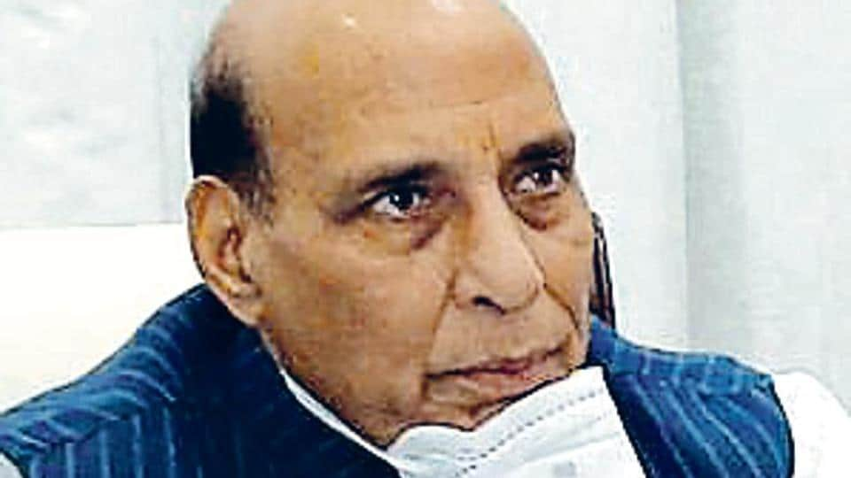 Rajnath Singh praised the efforts of DPSUs in coming out with new products to fight Covid-19 and also the assistance provided by them to the local administration.