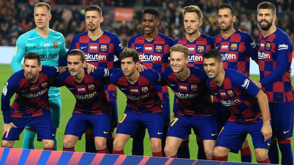 Barcelona have been sporting the red and blue jersey since 1899.