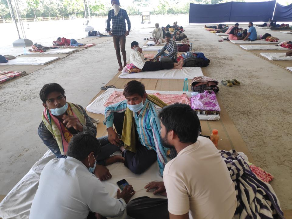 In April, more than 700 labourers have been sent home, but 41 migrant labourers are still awaiting their turn Karnal's shelter home.