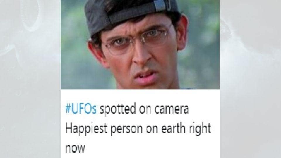 People flooded Twitter with alien-related posts.
