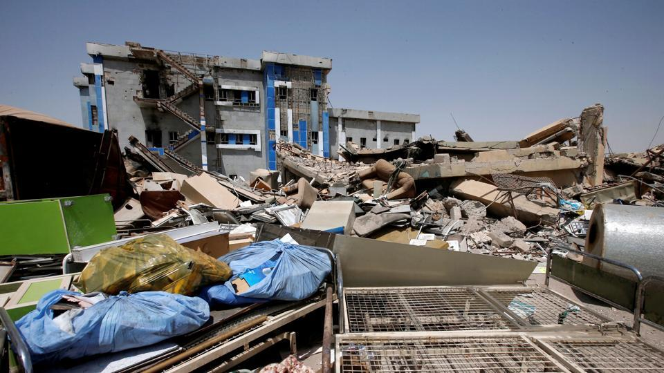 A view of a maternity hospital damaged from the war against Islamic State militants in east Mosul, Iraq.