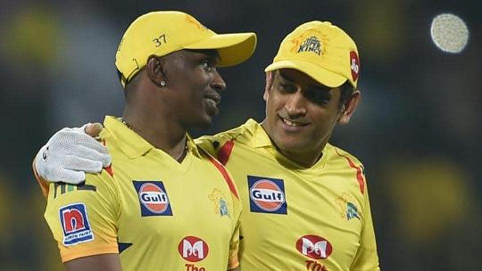 Chennai: CSK skipper MS Dhoni and Dwayne Bravo