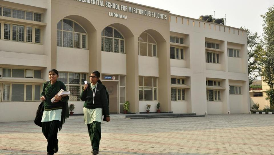 A view of the meritorious school in Ludhiana.  Punjab has 10 such schools all aimed at placing deserving students into professional colleges at the all-India level.