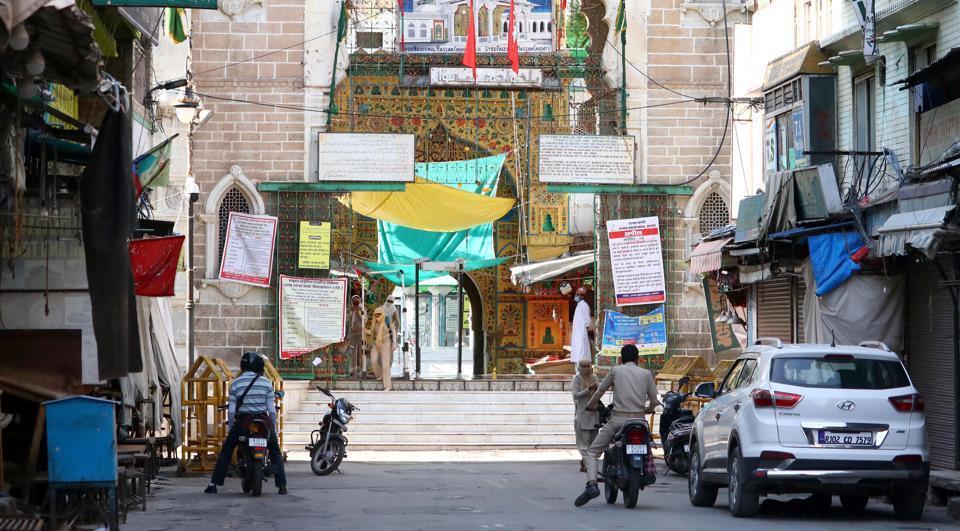 The shrine of Sufi saint Khwaja Moinuddin Chishti  in Ajmer lies deserted during the lockdown.