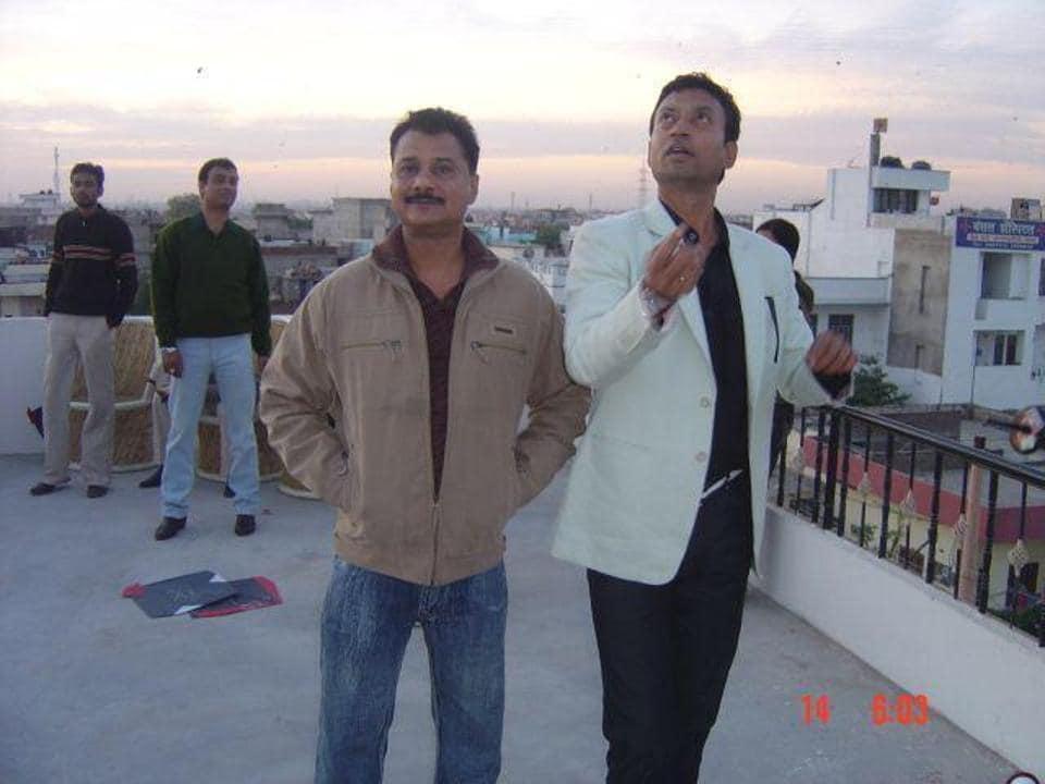 Irrfan Khan with his childhood friend Bharatpur SP Haider Ali Zaidi.
