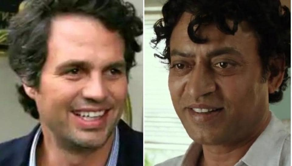 Irrfan Khan met Mark Ruffalo after the success of Slumdog Millionaire.