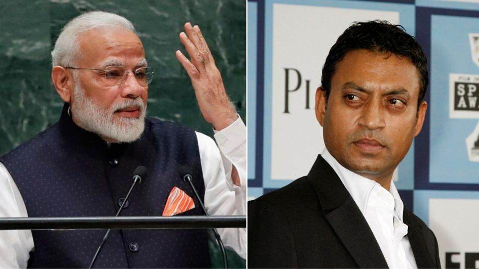 PM Modi was among a host of political leaders, Bollywood actors, sportsperson and others to mourn the Piku actor's death.