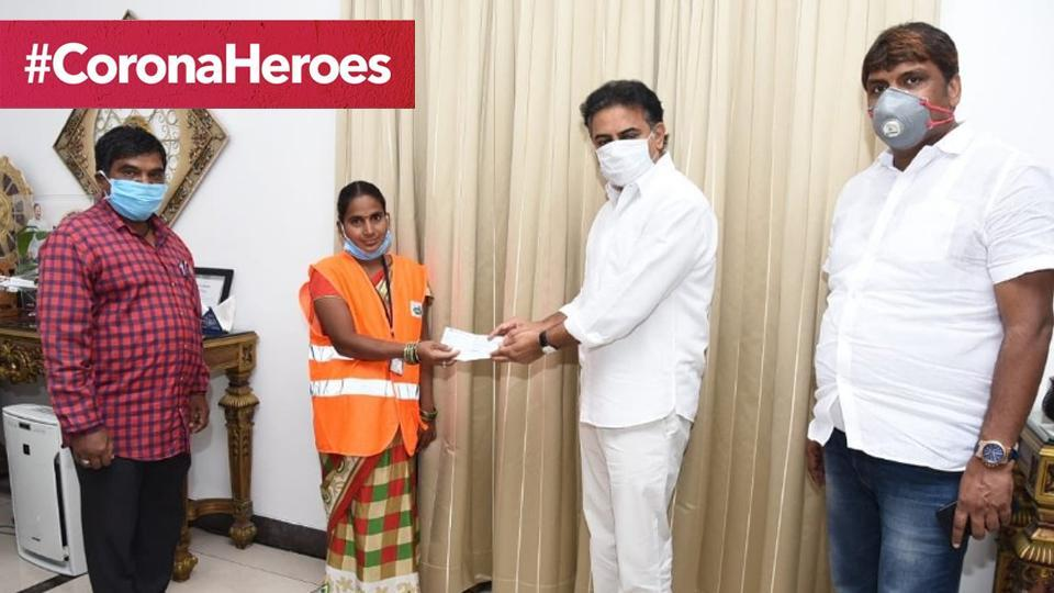 Alivelu donated her month's salary to the CMRelief Fund.