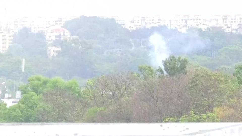 Magnesium scrap stockpile caught fire in HAL, Bengaluru.