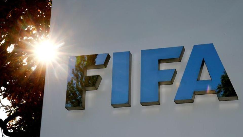 The logo of FIFA