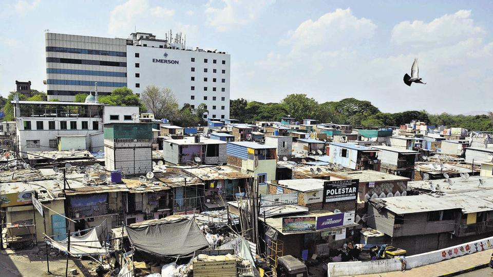 A spot check by HT on Monday to congested slum areas like Tadiwala road, Patil Estate, Lakshminagar and Lumbininagar revealed that social distancing is not a realistic expectation here.