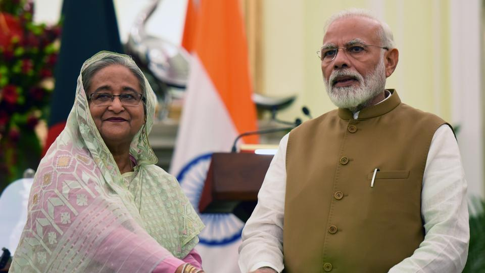 PM Modi and Bangladesh PM spoke regarding efforts to contain the pandemic in the region.