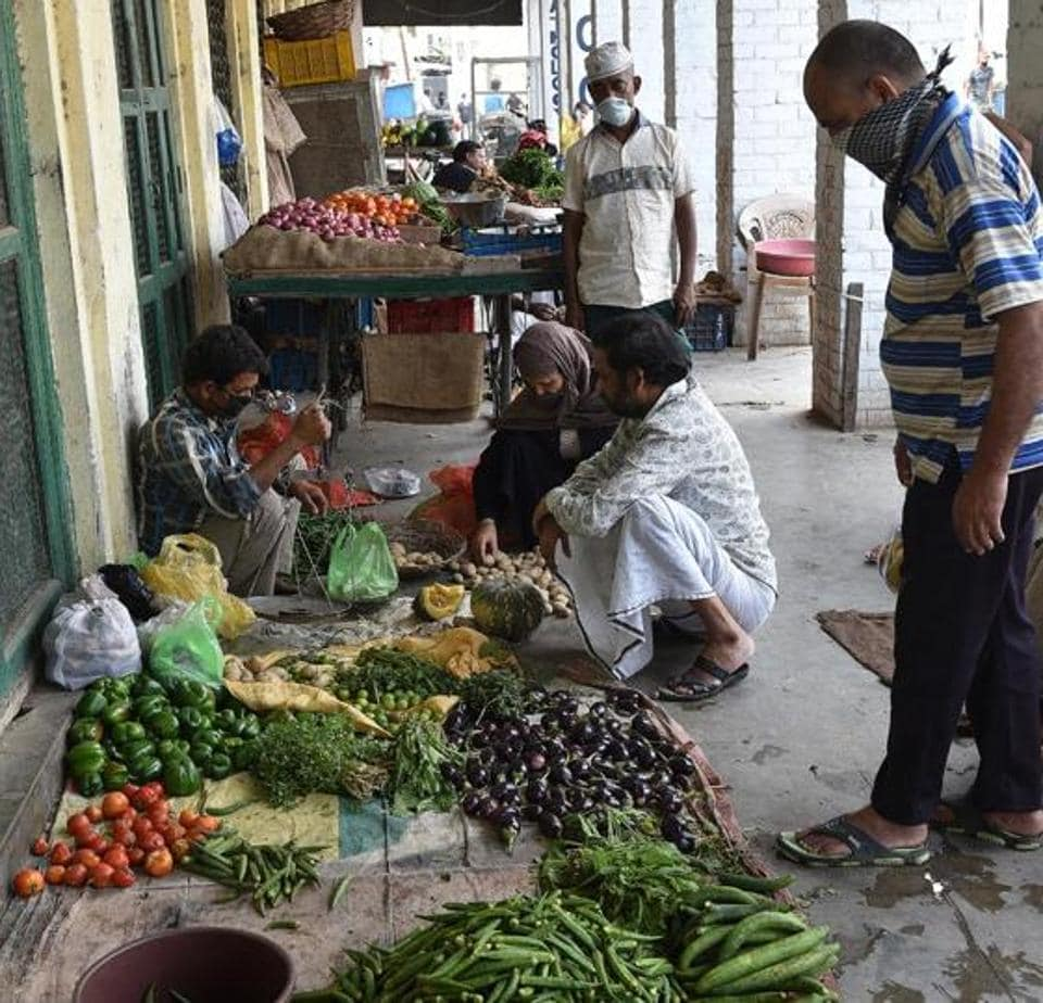 Vegetable vendors at  old city Lucknow.
