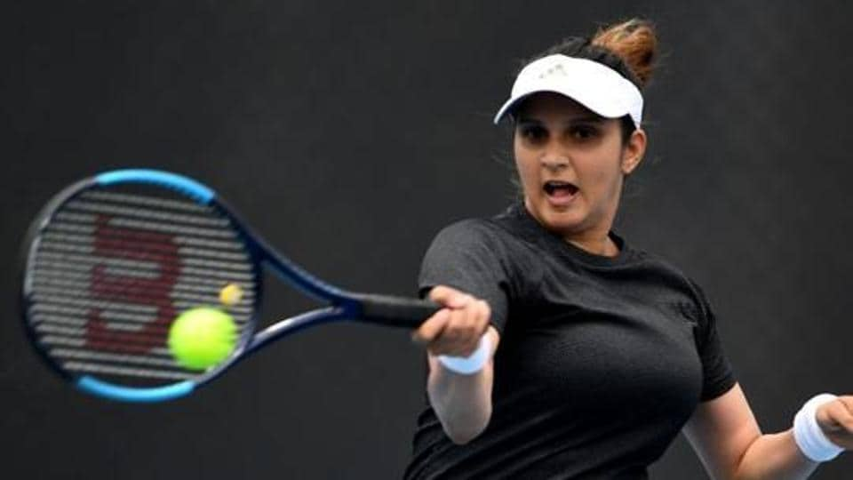 Sania Mirza in action.