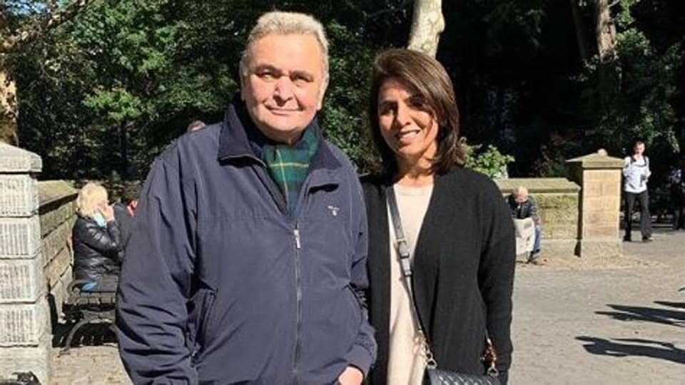 Rishi Kapoor and Neetu Kapoor in New York.