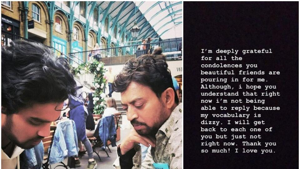 Babil Khan posted an emotional note on Instagram on his father IrrfanKhan's death.