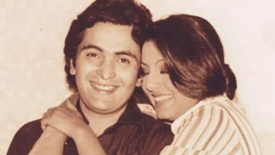 Rishi Kapoor with wife Neetu Singh. Rishi died on Thursday at the age of 67.