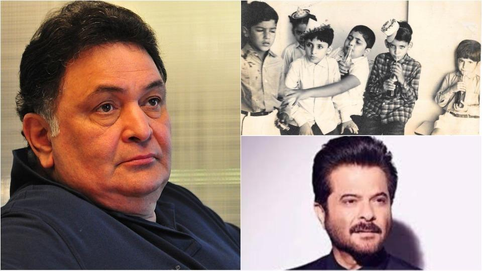 Anil Kapoor shared a childhood picture of him and Rishi Kapoor.