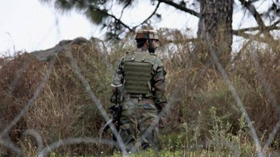 File Photo: An Indian Army jawan patrolling at the Line of Control (LoC) in Poonch district of Jammu and Kashmir.
