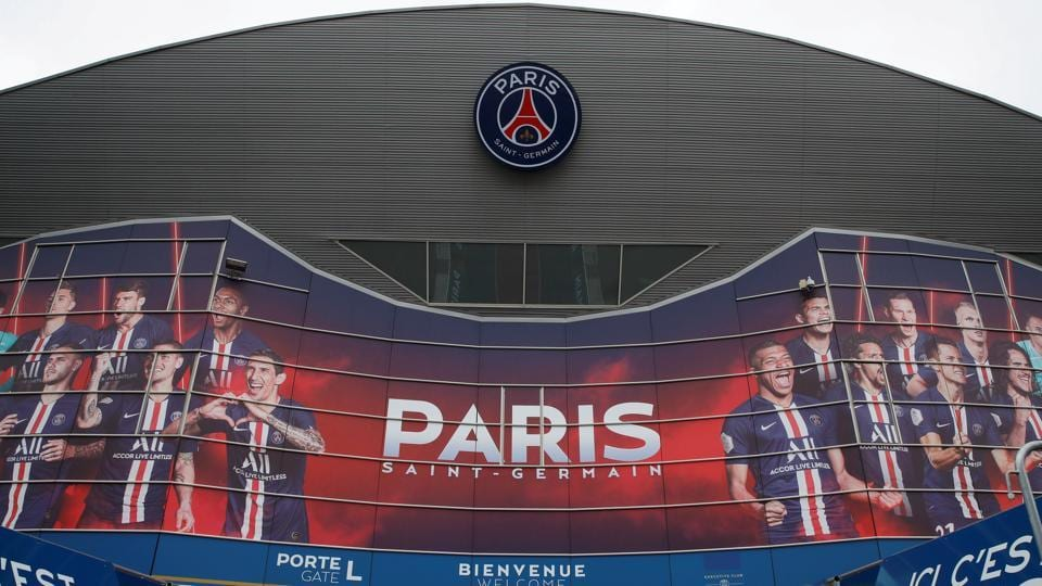General view of the main entrance of the Parc de Prince.