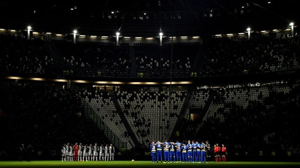 FILE PHOTO: Soccer Football - Serie A - Juventus v Parma - Allianz Stadium, Turin, Italy - January 19, 2020 General view as the teams observe a minutes silence before the match REUTERS/Massimo Pinca/File Photo