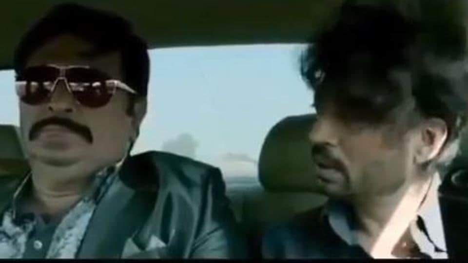 Rishi Kapoor and Irrfan Khan in a still from D-Day.
