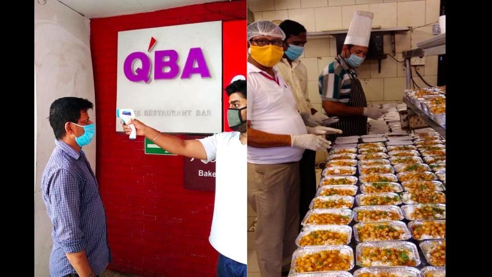 The meals are prepared in the restaurant's kitchen. More than 20,000 meals have been distributed so far.