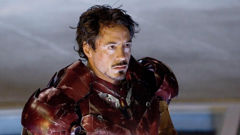 Robert Downey Jr as Iron Man/Tony Stark.