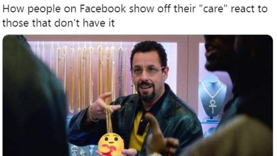 People dropped hilarious memes on Facebook's new 'care' emoji.