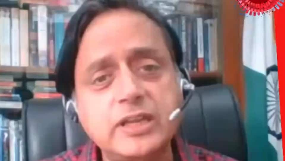 100 Hours 100 Stars:  Congress lawmaker Shashi Tharoor  during the 100 Hours 100 Stars conversation.