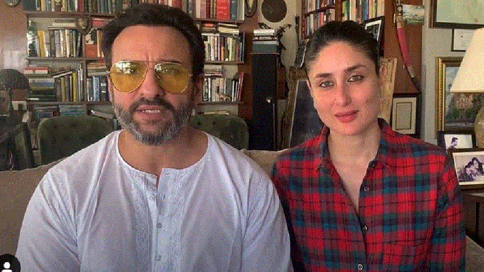 Kareena and Saif ask all to donate for Covid-19 charity.
