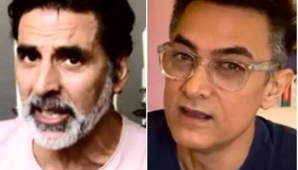Akshay Kumar, Aamir Khan show off their greys at I for India concert, sing songs and recite poem with wives Twinkle, Kiran – bollywood