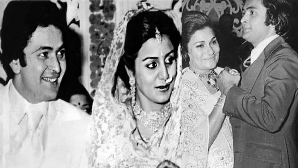 Rishi Kapoor with wife Neetu Kapoor and mother Krishna Raj Kapoor.