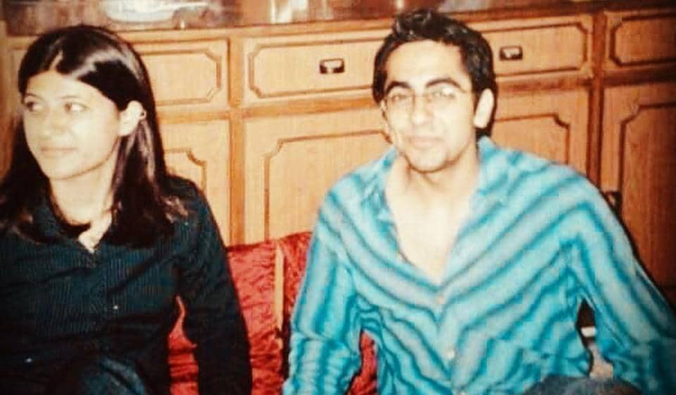 Tahira Kashyap and Ayushmann Khurrana in the initial days of their relationship.