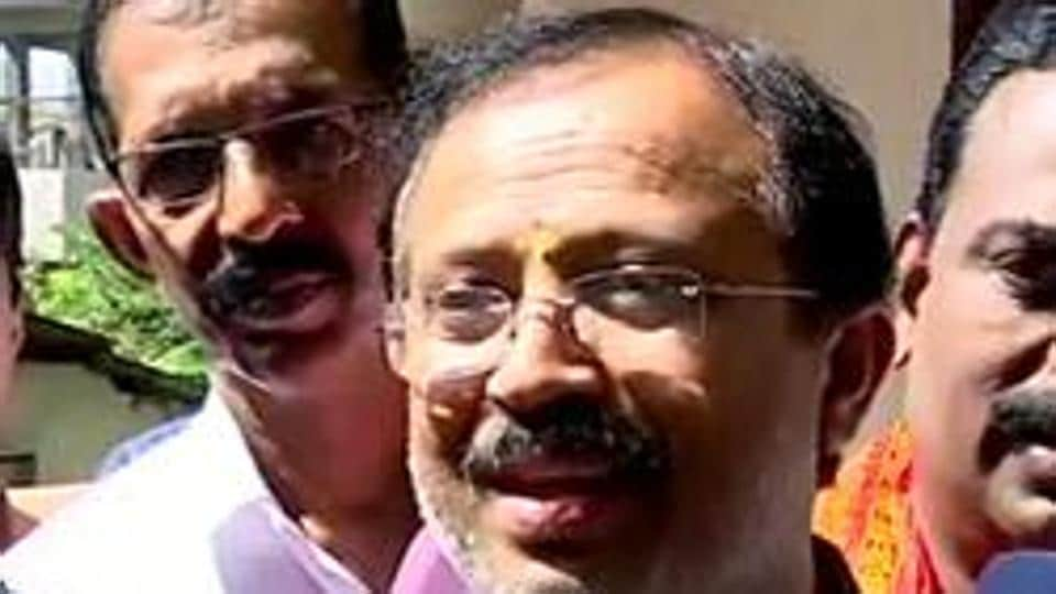 Kerala, Dec 22 (ANI): Minister of State for External Affairs and Parliamentary Affairs, V Muraleedharan speaks to media on protest against CAA in Kerala, on Sunday. (ANI photo)