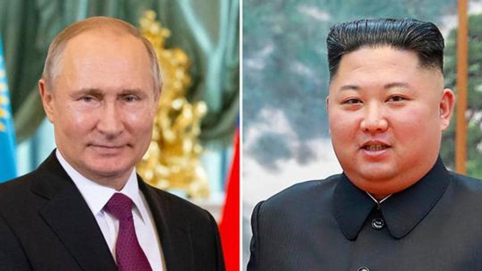 Vladimir Putin Awards Commemorative Wwii Medal To Kim Jong Un World News Hindustan Times
