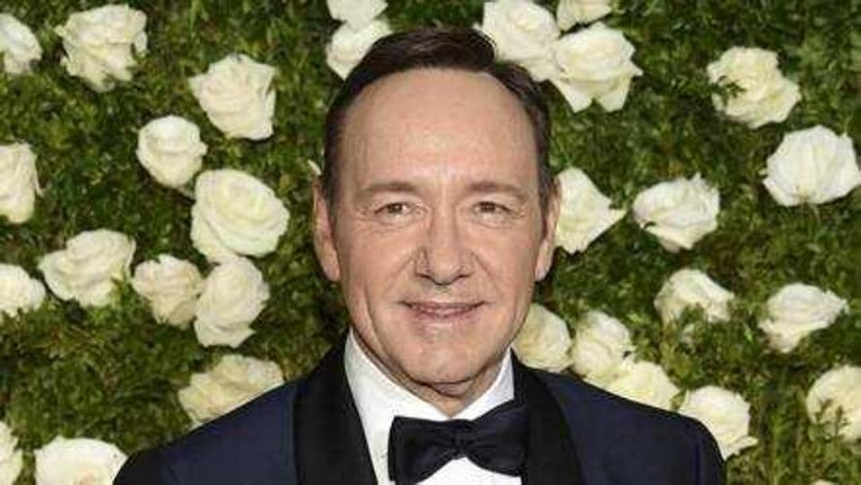 Kevin Spacey arrives at the 71st annual Tony Awards at Radio City Music Hall in New York. (Evan Agostini/Invision/AP)