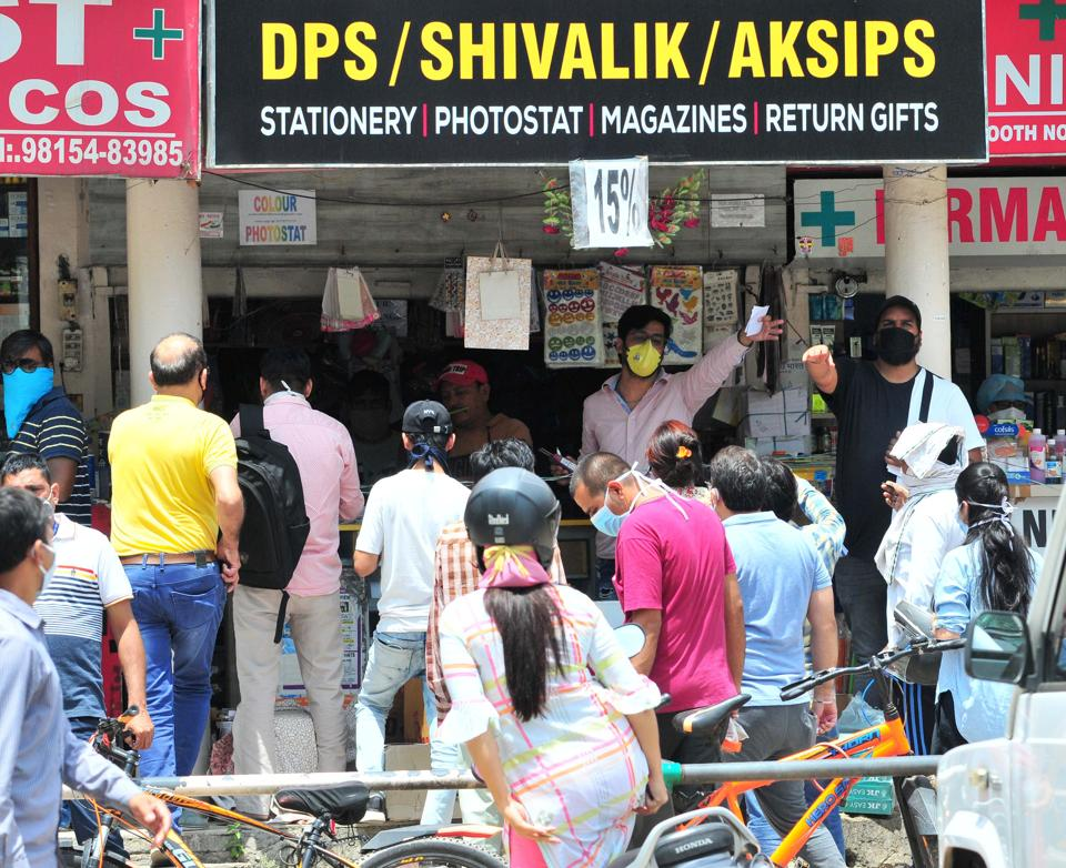 UT administrator VP Singh Badnore had on Tuesday approved opening of stationary shops on all days in the city however after observing heavy rush at the shops, the decision to deliver books at home was taken.