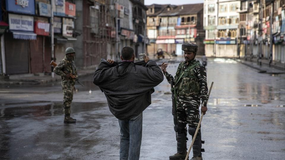 One of the images, taken in J&K in August 2019,  of the series which won the 2020 Pulitzer Prize for Feature Photography
