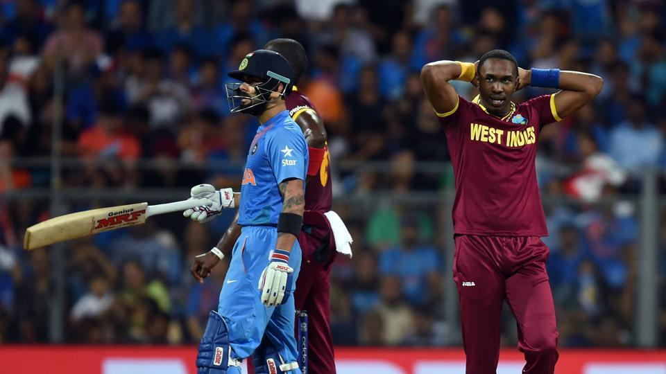 Dwayne Bravo in action during teh 2016 ICC WT20 semi-final. (Photo by Kunal Patil/ Hindustan Times)
