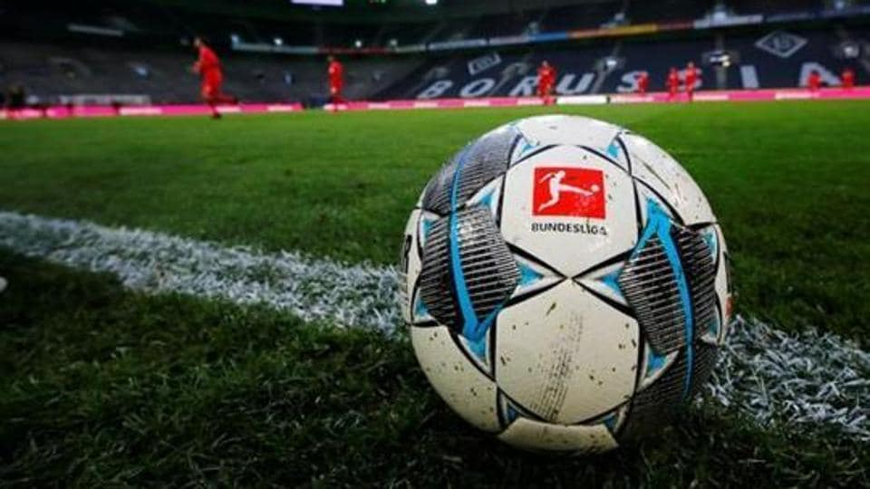 General view of a match ball during the warm up before the match that will be played behind closed while the number of coronavirus cases grow around the world.