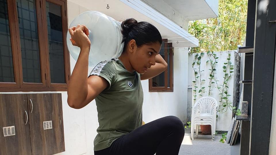 Gymnast Aruna Reddy.