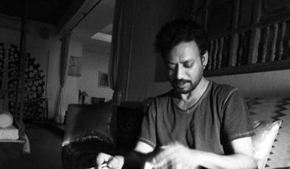 Late Irrfan Khan is seen playing with his cat in this throwback image.
