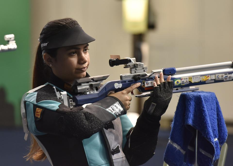 Air rifle shooter Apurvi Chandela is getting trained at the shooting range at her home, and learning photography online.