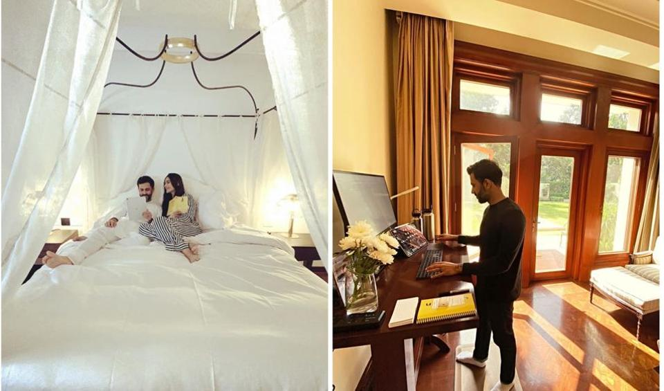 Sonam Kapoor gave fans a sneak peek into her lavish Delhi home, where she is currently staying with Anand Ahuja.