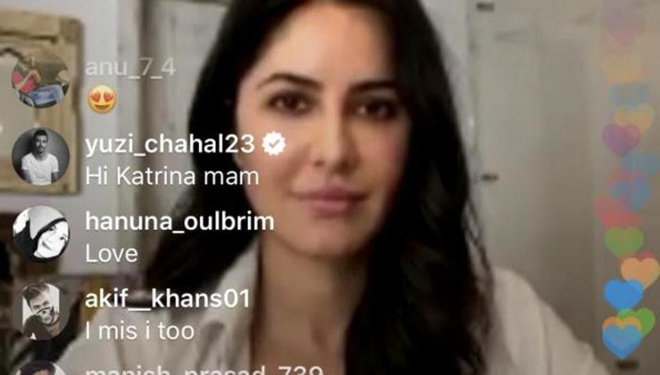 Yuzvendra Chahal crashes Katrina Kaif's live chat, says 'Hi Maam' – bollywood