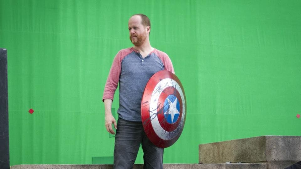 Director Joss Whedon on the set of The Avengers.